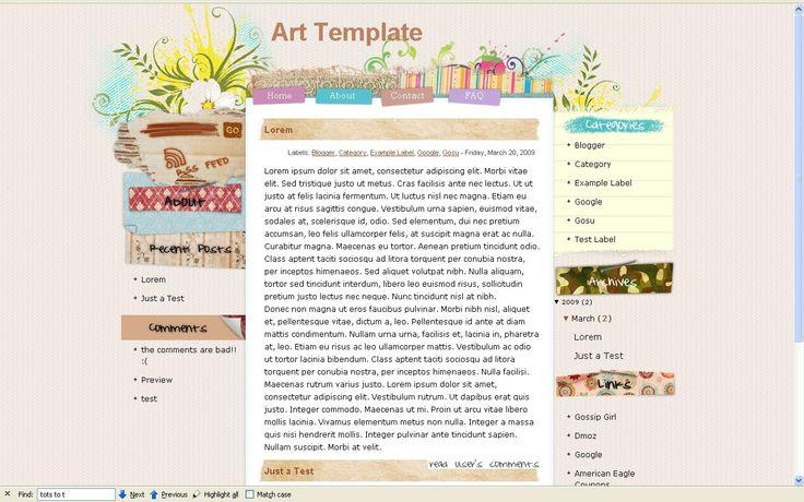 Blogger Art Template