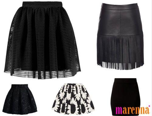 черные юбки 2016