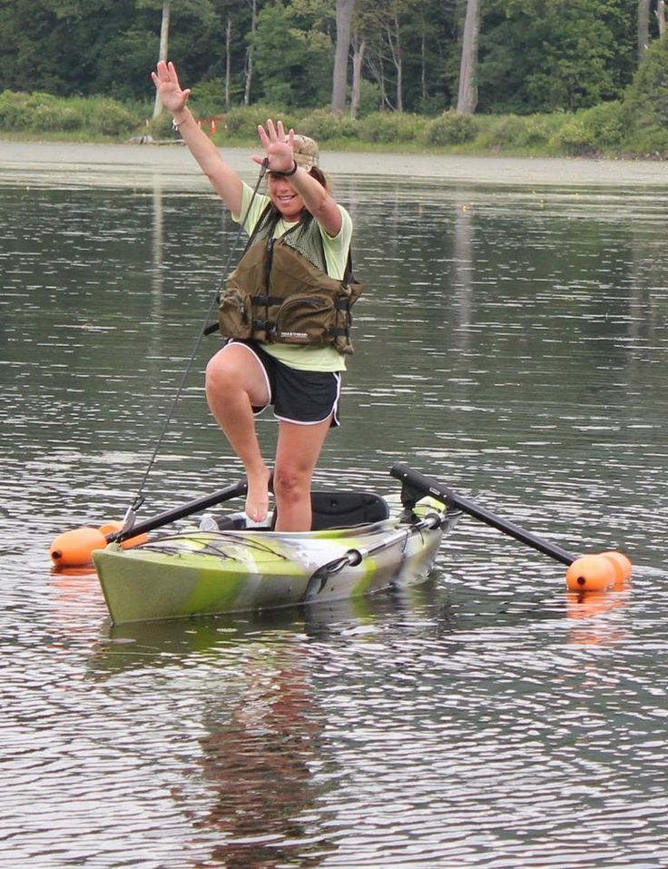 Kayak or canoe outriggers stabilizers for sight fishing for Kayaks for fishing