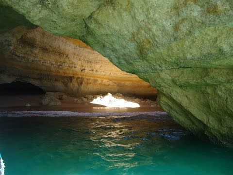 Caves and dolphin watching from Albufeira - YouTube