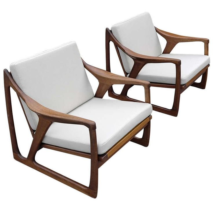 Pair Off Wooden Sculptural Armchairs 1960's | From a unique collection of antique and modern armchairs at http://www.1stdibs.com/furniture/seating/armchairs/
