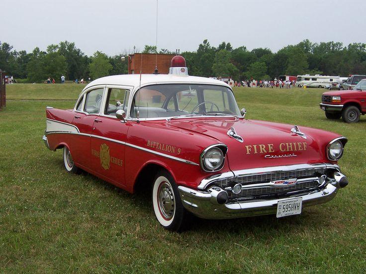 1957 chevrolet battalion fire chiefs car columbus ohio fd vintage fire engines. Black Bedroom Furniture Sets. Home Design Ideas