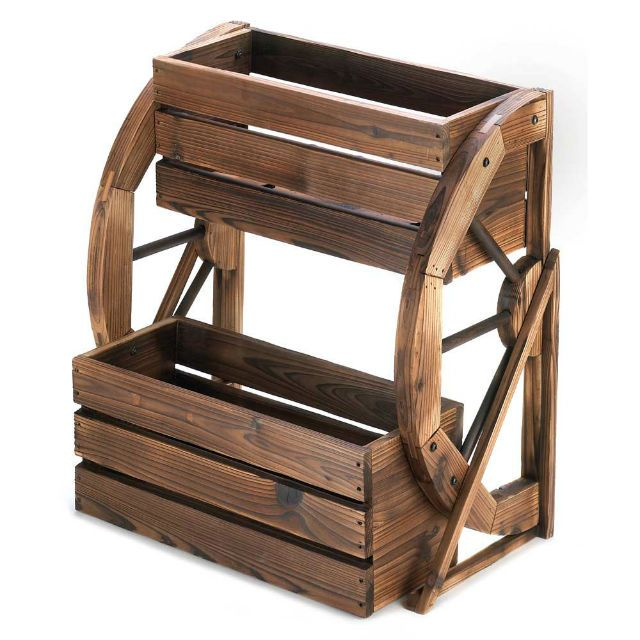 Wagon Wheel Double-Tier Planter Wagon Wheel Double-Tier Planter at True Wholesale Price : Twin Ports, Decor, and Novelties, Decor and Novelties at Wholesale Prices, Decor, and Novelties, at Wholesale, Prices!