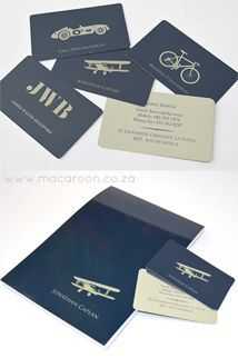 Classic Personalised Mens Stationery range, available online at www.macaroon.co.za