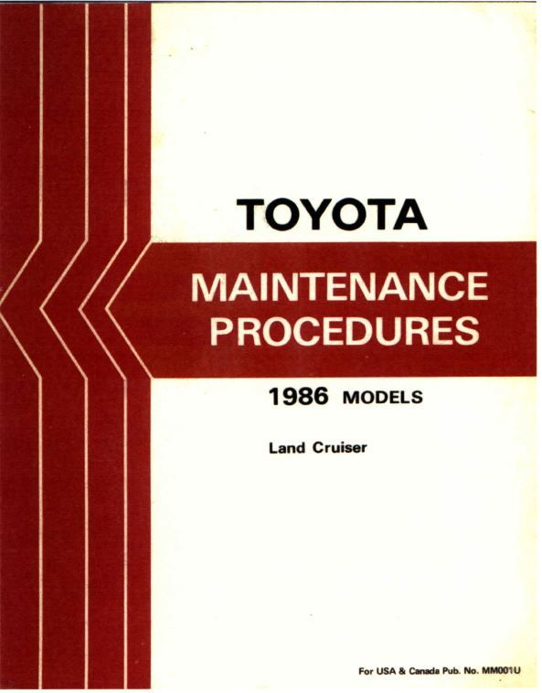 New Post Toyota Land Cruiser 1986 Maintenance Procedures Manuals Has Been Published On Procarmanuals Com Engine T Land Cruiser Toyota Land Cruiser Cruisers