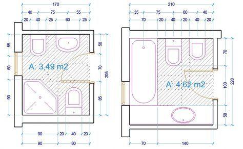 Oltre 25 fantastiche idee su planimetrie di case su pinterest - Sanitari bagno misure ridotte ...
