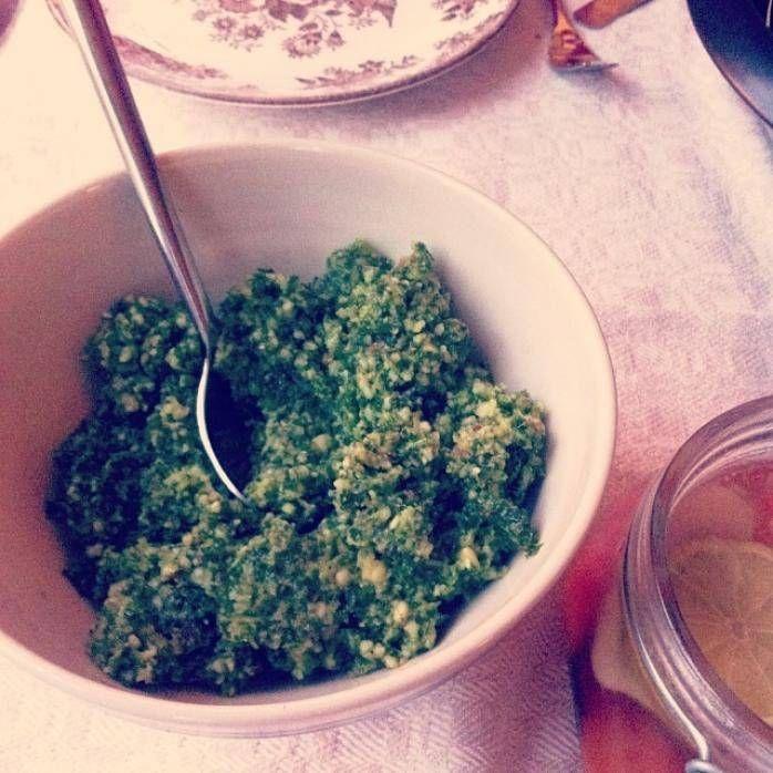 Pesto på grönkål
