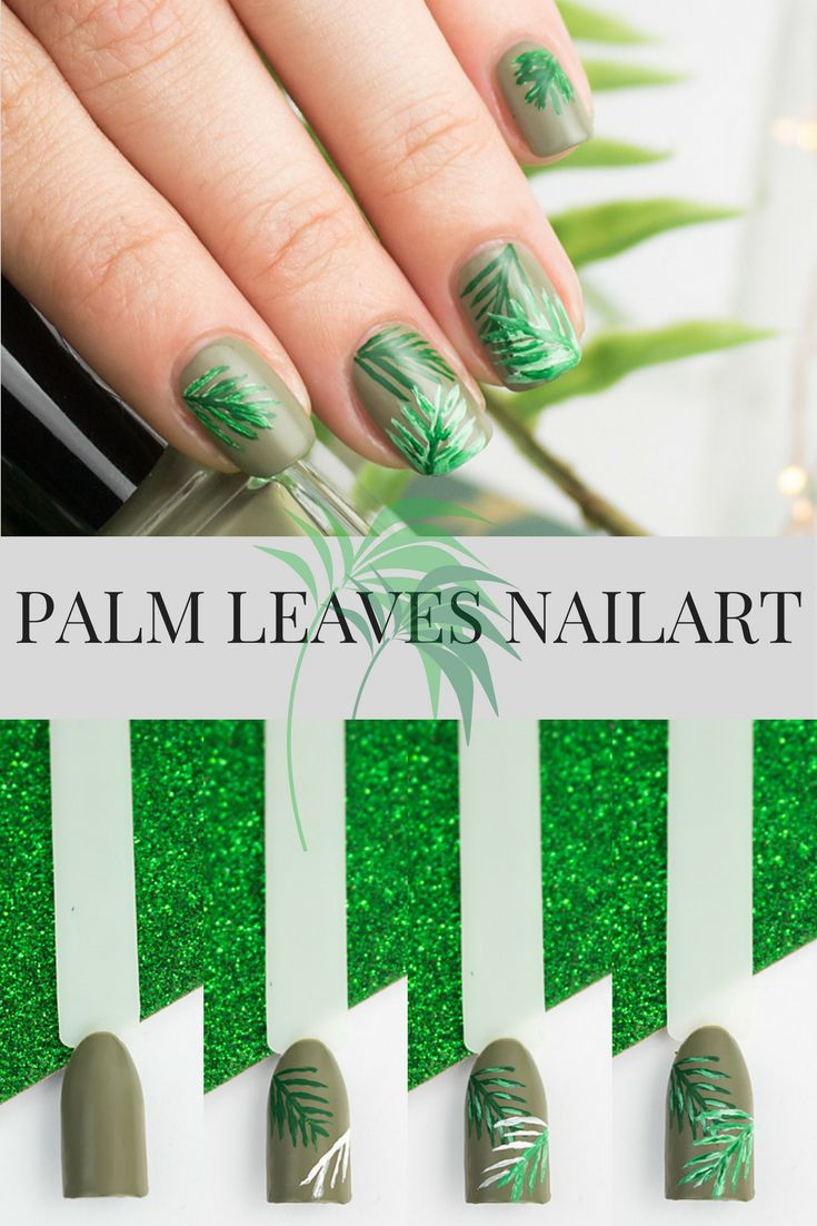 Palm Leaves Nailart - Step by Step Nageldesign für den den Sommer!
