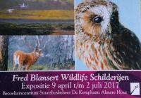 exposite Fred Blansert natuurschilderijen dierschilderijen wildlife paintings