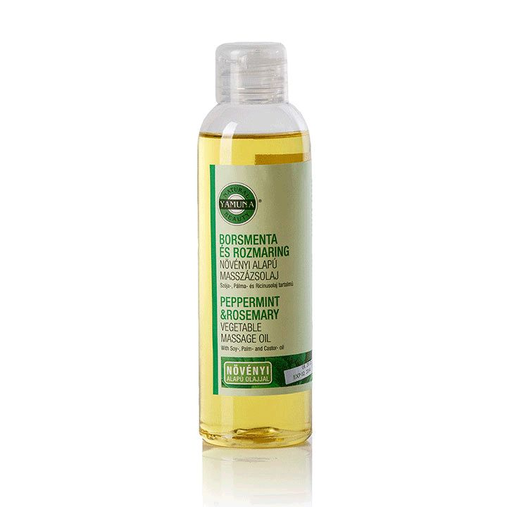 YAMUNA Peppermint & Rosemary Vegetable Massage Oil 1000 ml www.yamuna.hu