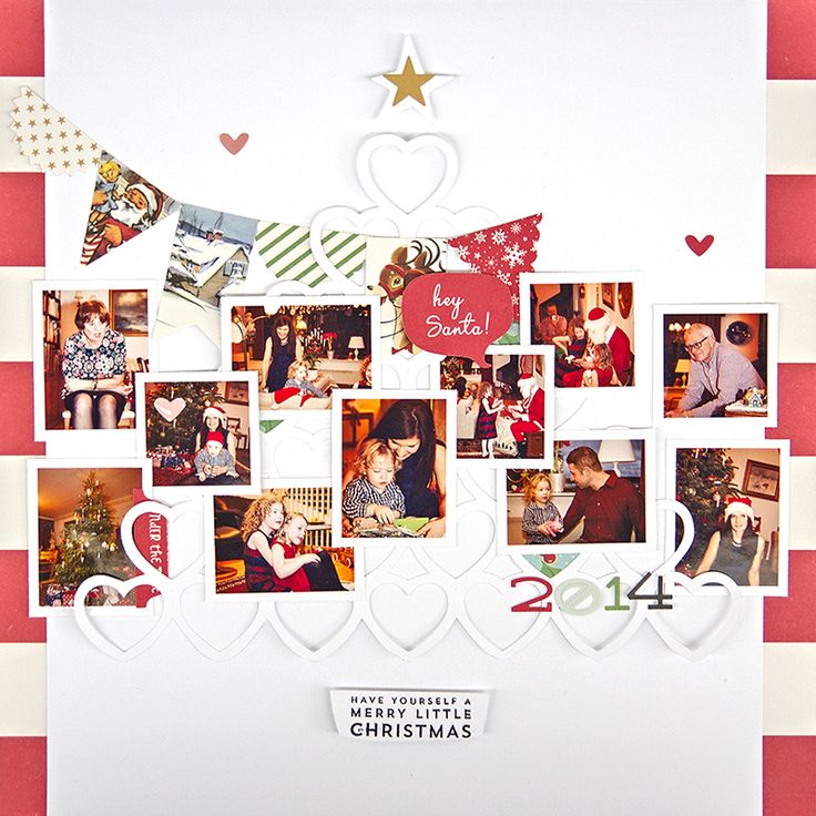 Multi-photo Christmas Layout   Cut File October Afternoon