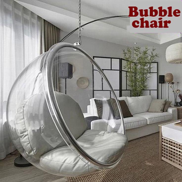 Пространство стул, Закрытый качели стул, Пространство диван, Висит пузырь стул + акрил материал + прозрачный цвет купить на AliExpress