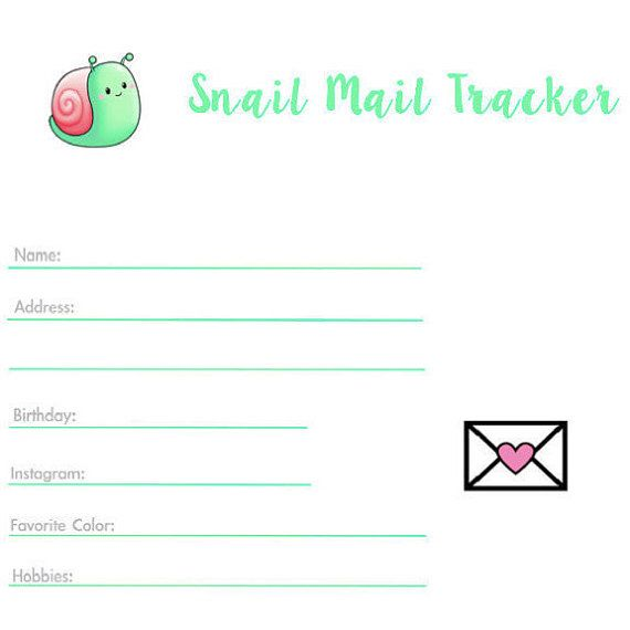 Pen Pal Tracker