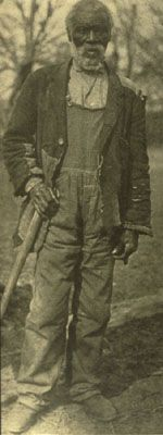 Born a slave in Maryland, Jim Lawson was taken to Alabama 20 years before the Civil War and placed on Windsor plantation, where he was still living and working at the time of this photograph. 1915