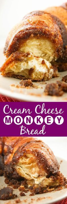 Cream Cheese Monkey Bread | WHAT in the world is better than gooey cream cheese hidden inside of monkey bread?! You will not want to stop.