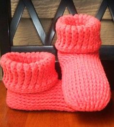 2015 Accessory Patterns - Knit Look Slipper Boots Crochet ADULT