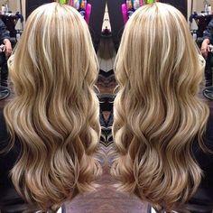 ❤ Pretty Caramel Lowlights & Vanilla Blonde Highlights ❤