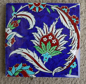 OTTOMAN TURKISH POTTERY IZNIK QUARTZ TILE STONE