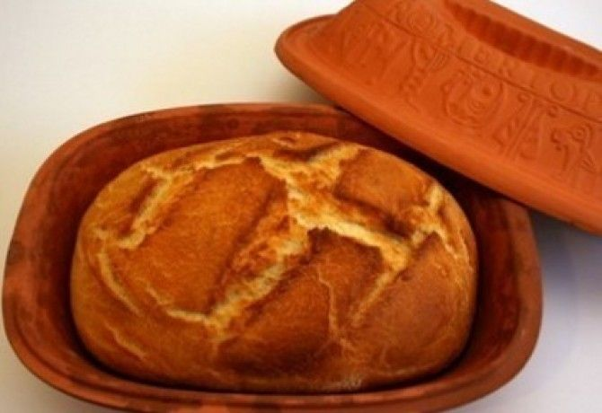 Házi fehér kenyér - Pataki tálban recept