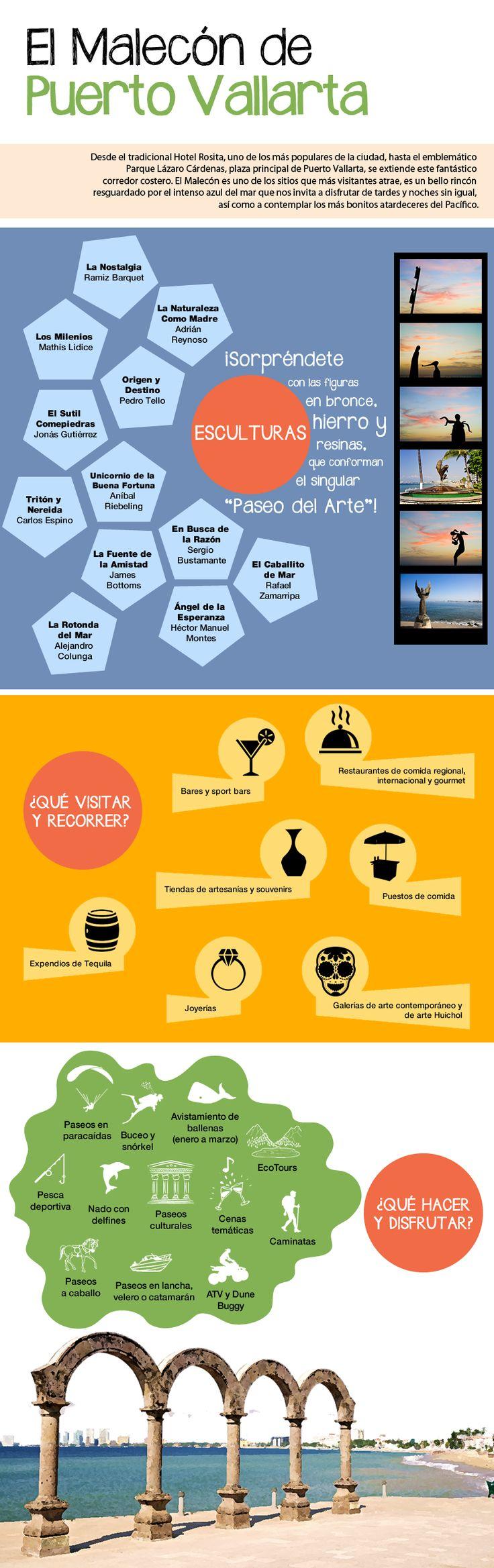 El Malecón es un símbolo, un emblema de Puerto Vallarta, ¡un imperdible que no puedes dejar de conocer! http://www.bestday.com.mx/Puerto_Vallarta/Atracciones/