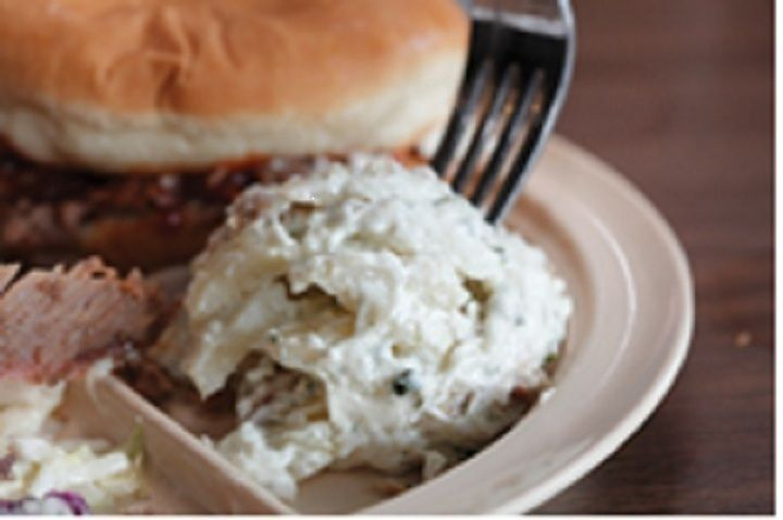 Whole Hog Sour Cream Potato Salad...sounds like it could be the same...but we heard it's just from Sysco!!!