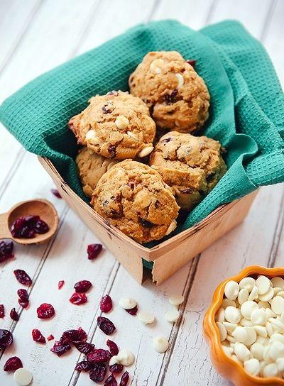 Pumpkin Cranberry White Chocolate Cookies