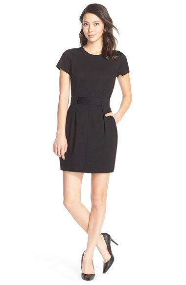 Cynthia Steffe 'Lana' Belted Ponte Shift Dress available at #Nordstrom