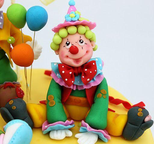 vioricas cakes: Tort botez Petrecere cu clowni