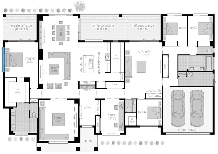 It's Floor Plan Friday and today I have this acreage style home with 4 bedrooms, activity area and study. It's a pretty big home with everything you'd need. This would make a great forever home on some spacious land. The back could face North and the morning sun would be beautiful through the activity/kitchen/dining area. …