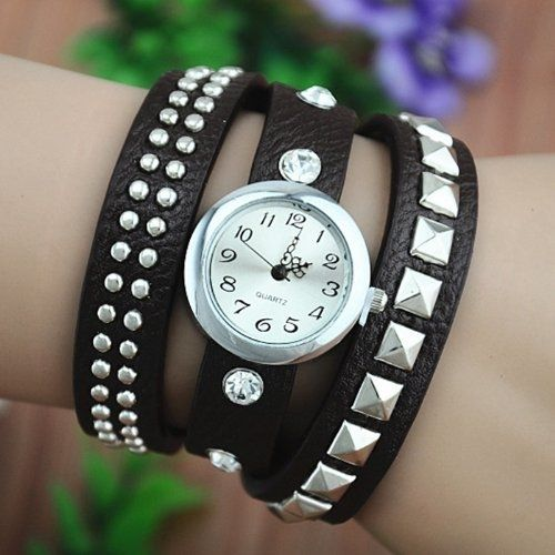 Handmade Leather Belt Wrap Watch