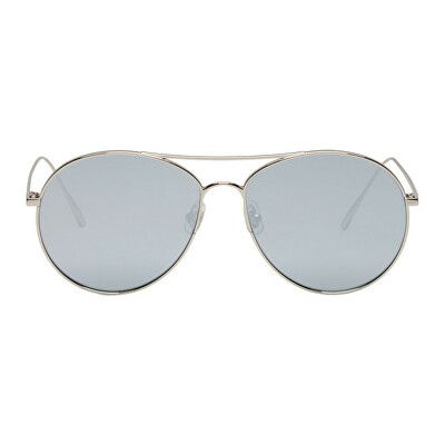 d2670cfa320a Gentle Monster Designer Silver   Grey Ranny Ring Aviator Sunglasses ...