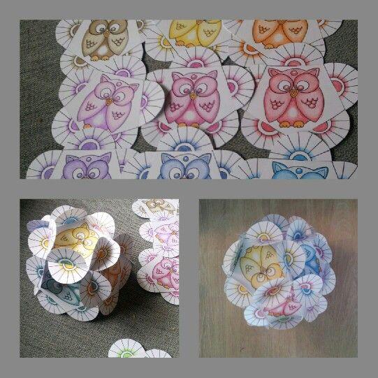 week 38 paperart flowerball