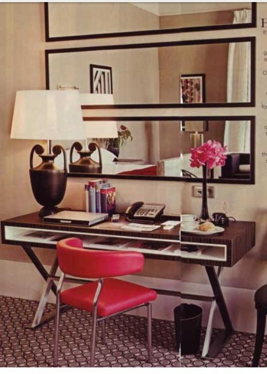 Love the desk and mirror idea