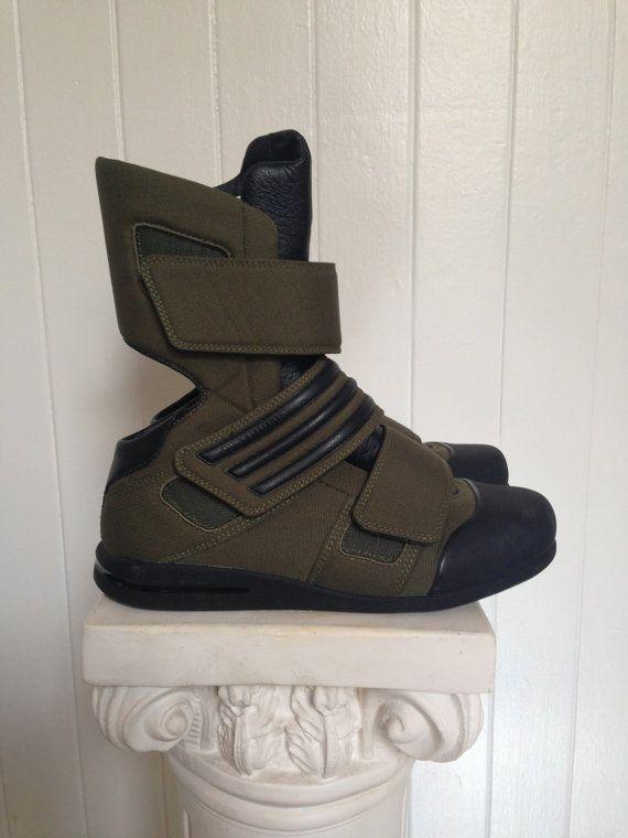 Yohji Yamamoto Y3 Adidas army green future boots by newbodyshop, $219.00