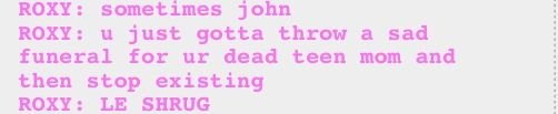 wise words from Roxy Lalonde
