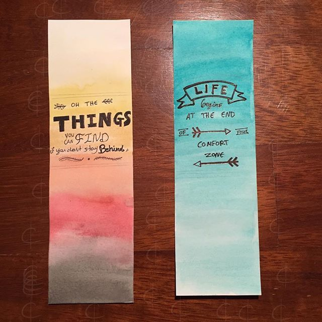 Simpler bookmarks   #book #mark #bookmark #craft #diy water #color #cookie #paint #watercolor #waterpaint #quote