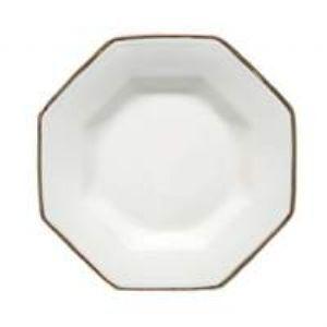 Estojo com 6 Pratos Fundos Prisma Filete Prata Porcelana Schmidt - Mesa Detalhe