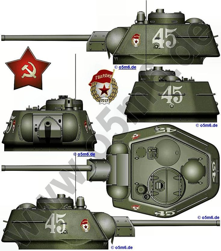 Engines of the Red Army in WW2 - Russian Medium Tank T-34 1943 Late Production Turret