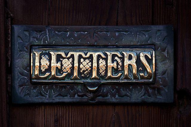 Post, Art, Brass Letters, Vintage Letterbox, Beautiful Writing, Letters Writing, Letters Boxes, Polish, Burnished
