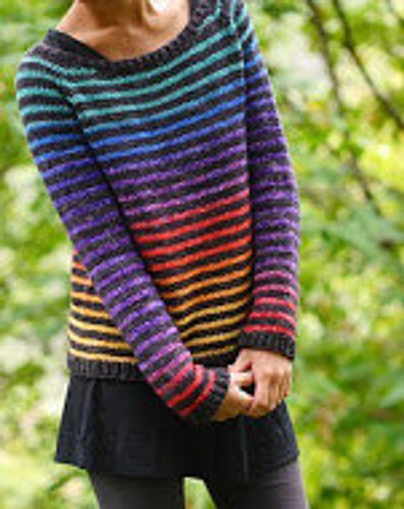 Rainbow Trail Sweater Yarn Pack Kit by Cristina Ghirlanda – Size: 2XL, dyed to order