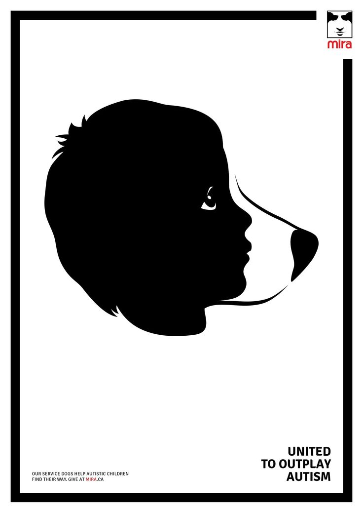 """Our service dogs help autistic children find their way. Give at mira.ca"".  (Publicis, Montreal, Canada)"