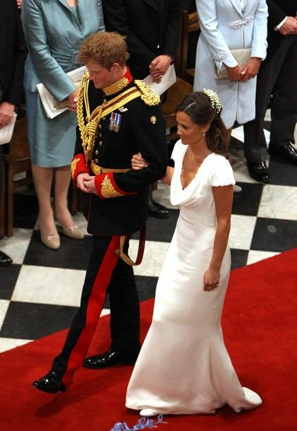 Pippa and Prince Harry, walking down the aisle. #royalty