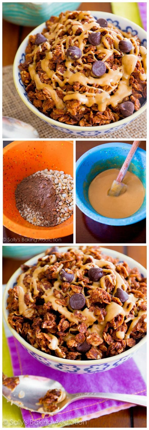 Only 7 ingredients needed to make this healthy, indulgent-tasting chocolate peanut butter granola!