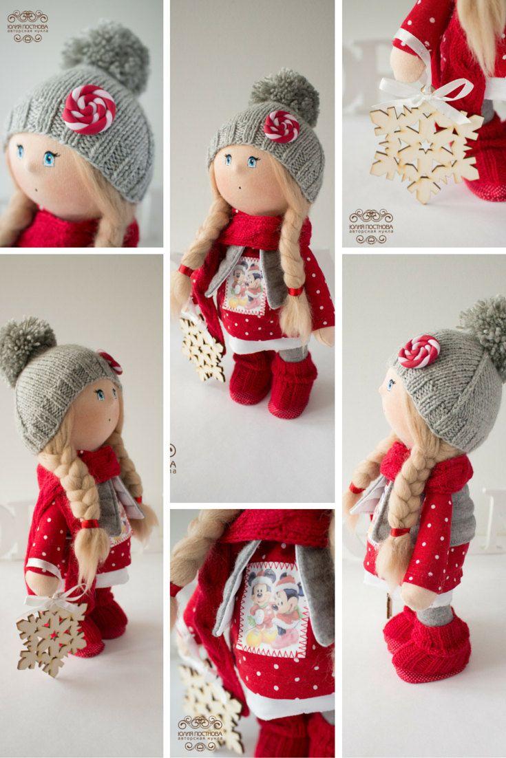Winter tilda doll Christmas doll Art doll by AnnKirillartPlace