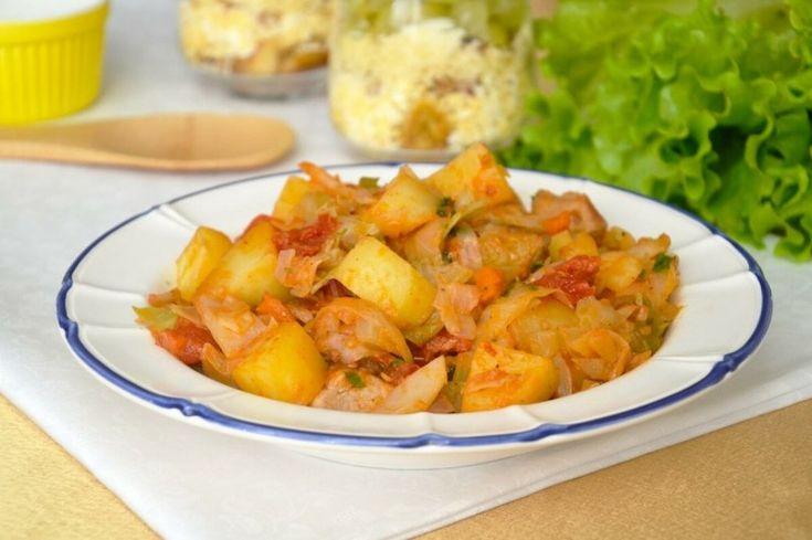 Свинина, тушеная с капустой и картошкой 0   Тушеная ...
