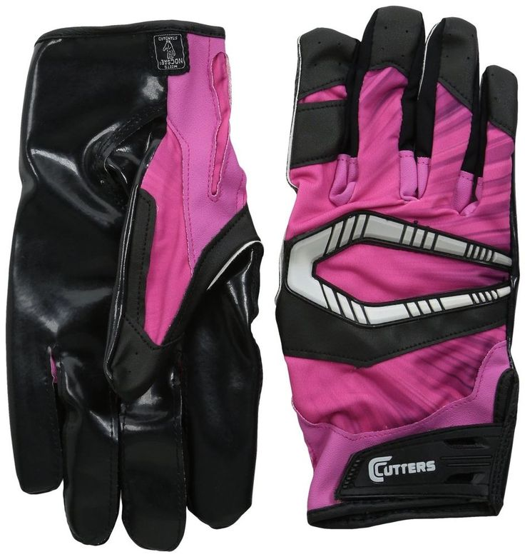Cutters Gloves REV Pro Receiver Football Gloves (Pair), Pink, Adult: Medium  #Cutters