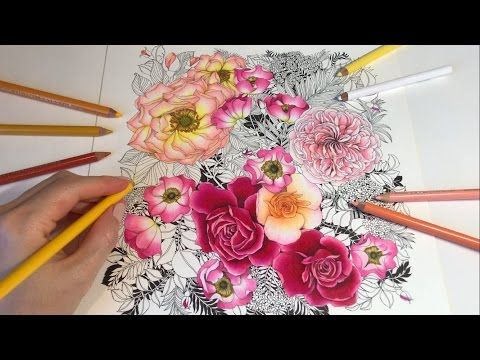 Rose Garden - Part 5: Floribunda Coloring Book - YouTube
