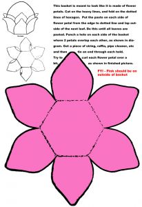 Make Easter Basket with Flower Petals Paper Folding Craft. I'd like to make it out of cereal box cardboard, and paint it!
