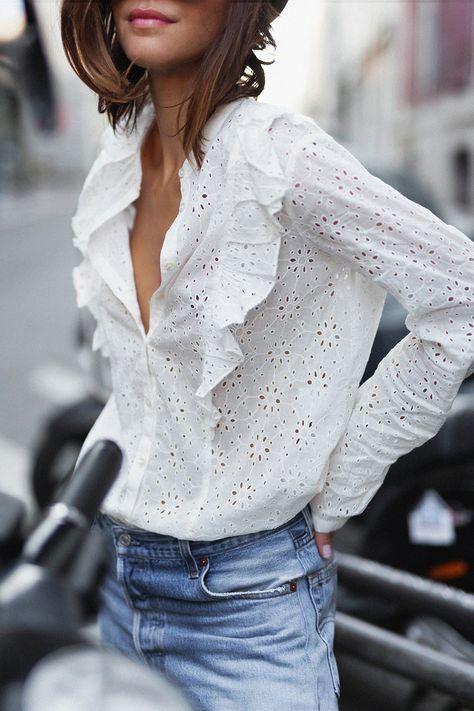 🖤 22 idées de tenues avec une chemise blanche
