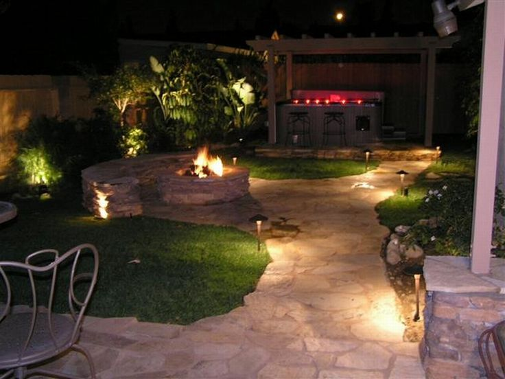 simply design of landscaping lighting ideas backyard lightingoutdoor - Outdoor Lighting Ideas For Patios